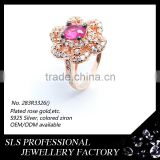 American indian wedding rings flower shape ring for women rose gold plated bling-bling rings