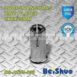 BS-AN05-006 carbon steel knuring drop in anchor zinc plated