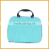Portable Pu Fabric Hard Beauty Bag Display Cosmetic Case