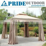 Outdoor Patio Gazebo Garden Canopy With Mosquito Netting 4x4 Luxury Aluminum Gazebo                                                                         Quality Choice