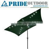 Outdoor Patio Beach Aluminium Sun Shade Solar Powered Handle Led Light Umbrella Clear Led Umbrella