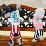 Sports cotton striped dog clothes with four legs                                                                         Quality Choice