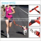 Best selling adjustable nylon running pet leash hands free dog leash for jogging                                                                         Quality Choice