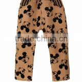 fashion kis mickey pants,winter children jeans trousers,plain corduroy boys long pant