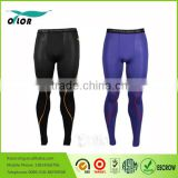 Sport Compression Pants Men's balck and blue Men's Base Layer Leggings Running Workout