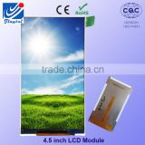"China supplier outdoor use 4.5"" tft small flexible lcd display panels with 440cd/m2(TYP)"