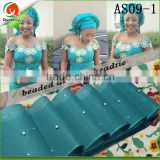 bridal hair accessories women aso oke headtie beaded headtie