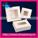 White Windowed Cake Bakery Boxes