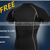 2015 New Men Sport Tight Fitness Shirt Bodybuilding Basketball Quick-dry Leisure Sport Elastic Short Sleeve S-XXL Hot Sell 1008