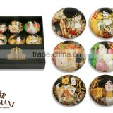 CARMANI Fridge magnet set with GUSTAV KLIMT art