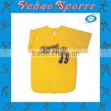 college yellow and red baseball jersey with name and number for sale