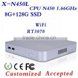 Hot Selling N450 8G RAM 128G SSD Industrial Panel PC Thin Client Fanless Thin Client Desktop Computer