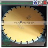 diamond segmented circular saw blade in table saw for stone slab and plate cutting