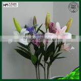 Plastic artificial flower real touch tiger lily with long stem