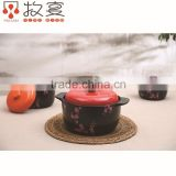 Chaozhou MUYAN heat-resistant ceramic pot flower decal round shape for wholesale