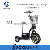 Chinese Mototec electric mobility scooter three wheel scooter 350W 36V or 48V motorcycle for adults
