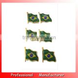 Brasil mini flag badge,metal pin badge with your own design,football club advertising pin badge