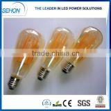 energy saver led light bulbs amber st64 long filament led bulbs 6w lamp                                                                                                         Supplier's Choice