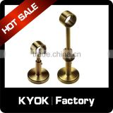 KYOK Solid brass swivel bay window net curtain rod,wall mounting bracket curtain accessory support bracket for 22 mm pole