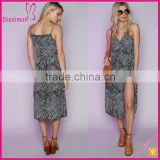 Casual Style Net Print Chiffon Tangle Black Maxi Beach Wrap Dress