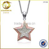 lucky birthday gift fashion european s925 silver jewelry with cz micro paved silver star pendant