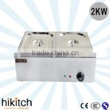 Commercial restaurant kitchen equipment table top 2KW 2 Pans electric bain marie food warmer