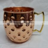 2015 Best Selling 16oz Solid Copper Moscow Mule Mug/100% Pure Copper Cups/100% Copper mug/coffee mug