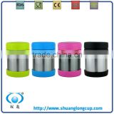 Novelty Custom Stainless Steel Thermos Food Storage Airtight Jar / Canister / Lunch Container with Lid