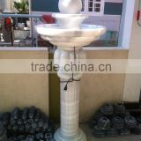 Outdoor rolling marble ball fountain hand carved stone sculpture for garden hotel restaurant