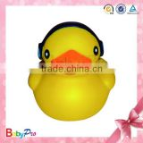 2014 Hot Sale Eco-friendly Floating PVC Custom Wholesale Bulk Rubber Ducks Bath Toy With Music