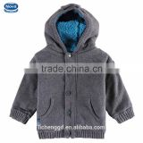(A4583) nova2015 new design good quality wool kids sweater with hood cute baby boys warm sweaters for winter