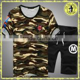 Summer tight round neck camouflage short-sleeved t-shirt couple t-shirt camouflage uniforms