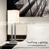 Single metal desk lamp fabric shade table light for hotel decor