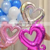 2015 New Design EN71 custom foil hollow heart shaped balloons                                                                         Quality Choice