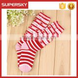 V-235 Baby girl soft colorful boot socks with lace trim cute boot cuffs