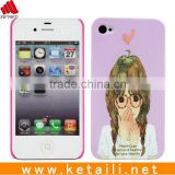 beauty girl design mobile phone cover for Iphone housing with trestle