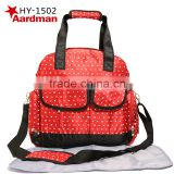 2016 New 3pcs 3 colors Hot sale aardman Oxford fashion baby nappy diaper bags and backpack for mummy HY-A288