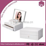 Fancy Mannequin Wooden Jewelry Drawer Box & White Jewellery Case Dividers For Accessories