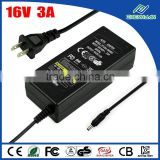 jet power adapter 16v 48w ac to dc power supply