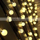 Solar Outdoor String Lights 19.7 ft 30 LED Warm White Crystal Ball Christmas Globe Lights