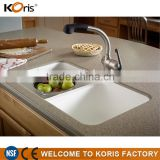 Cheap building material modified acrylic solid surface artificial stone sheets for vanity sink molded sink countertop