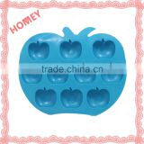 Apple Shape Ice Cube Tray Stirrer Plastic TPR Tray Jelly Chocolate Maker Lemon