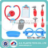 Play At Home high quality 9PCS Kids plastic doctor toy kit