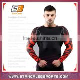 Stan Caleb Rash Guard Sublimation printings Long Sleeve mma Lycra Rash Guard Compression