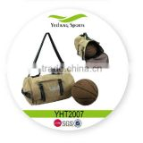 Canvas Shoulder Bag Round Barrel Duffel Men Gym Bag