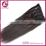 Hot Selling Qingdao Love Hair Clip in Hair Extension 7A Grade Aliexpress Brazilian Virgin Human Hair