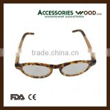 color round frame wood sunglasses with acetate arms hot fashion sunglasses wooden for man and woman