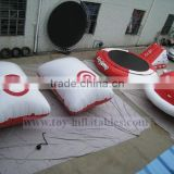Best quality 0.9mm materials floating inflatable water park with inflatable water trampoline