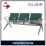 Armchair stainless steel leather waiting room chair