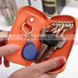 New arrival Leather Car Auto Keychain / leather key case / leather coin bag